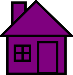 Birdhouse clipart purple. House pencil and in