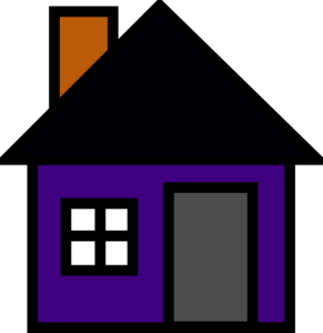 House pencil and in. Birdhouse clipart purple