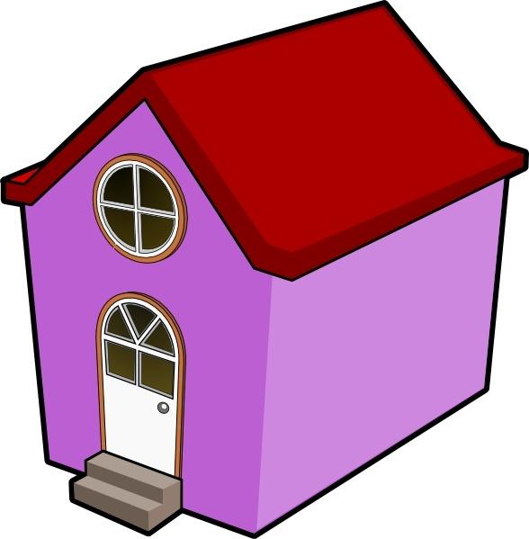 Bigredsmile a little house. Birdhouse clipart purple