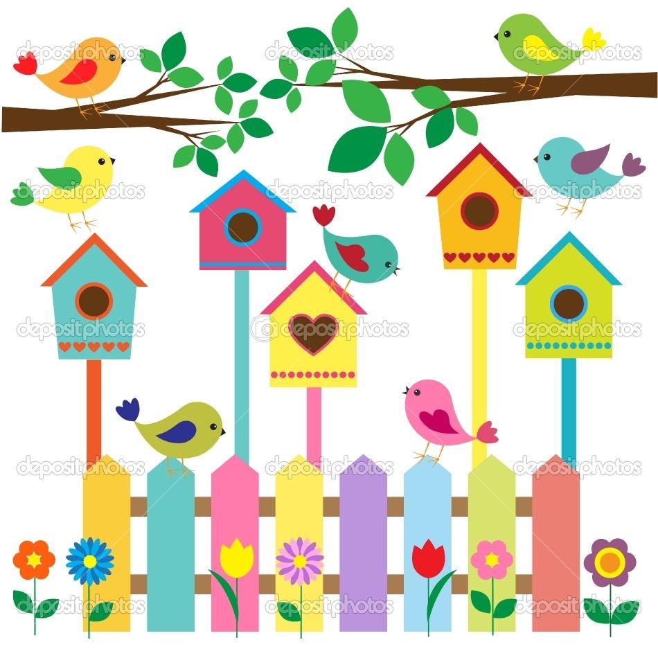 Birdhouse clipart shabby chic bird. Nichoirs oiseau diy kids