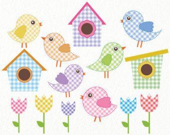 Clip art digital baby. Birdhouse clipart shabby chic bird