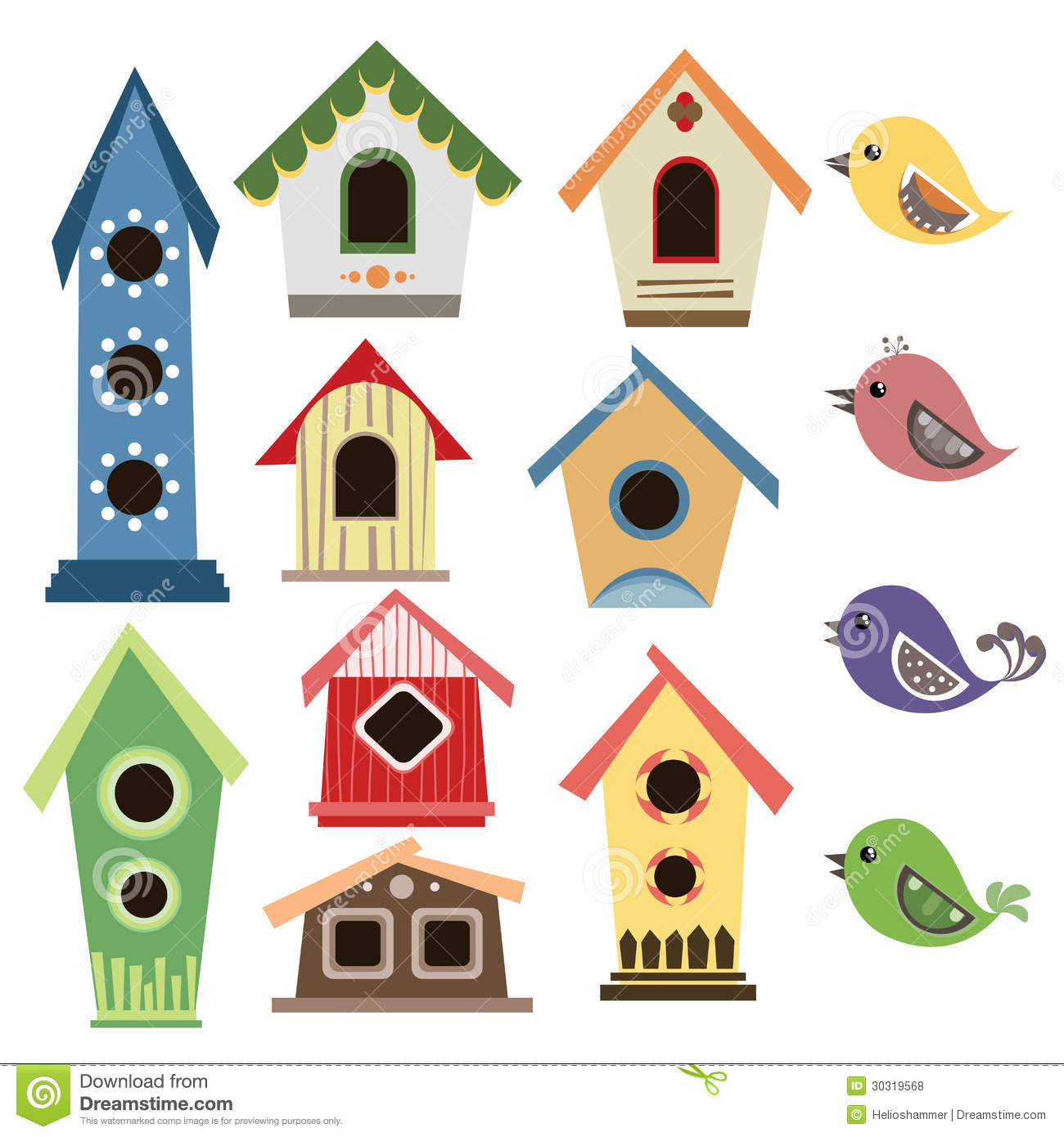 Free bird houses collection. Birdhouse clipart tree clipart