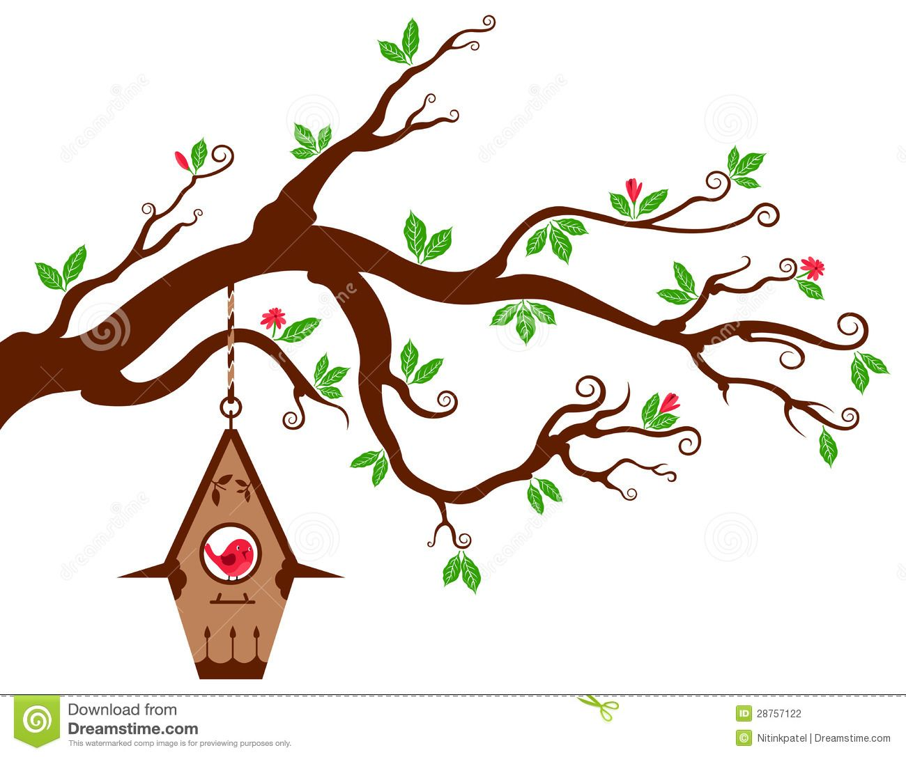 Cute branch google search. Birdhouse clipart tree clipart
