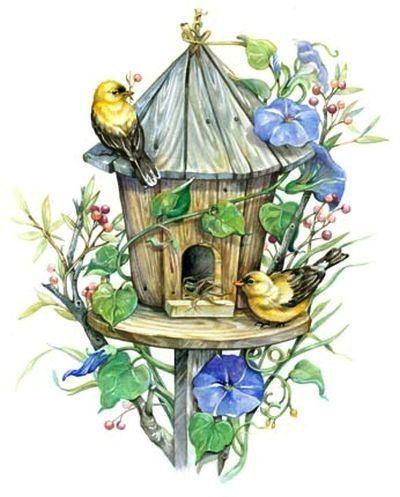 Birdhouse clipart vintage.  leesa whitten liveinternet