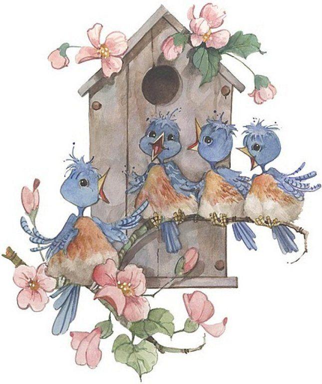 best art carolyn. Birdhouse clipart vintage