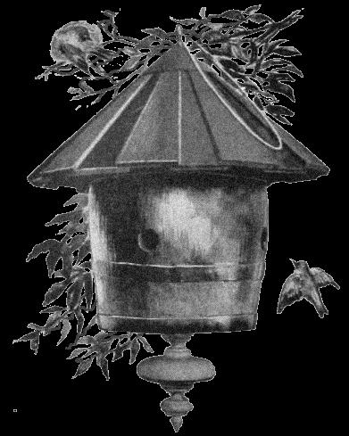Bird and clip art. Birdhouse clipart vintage