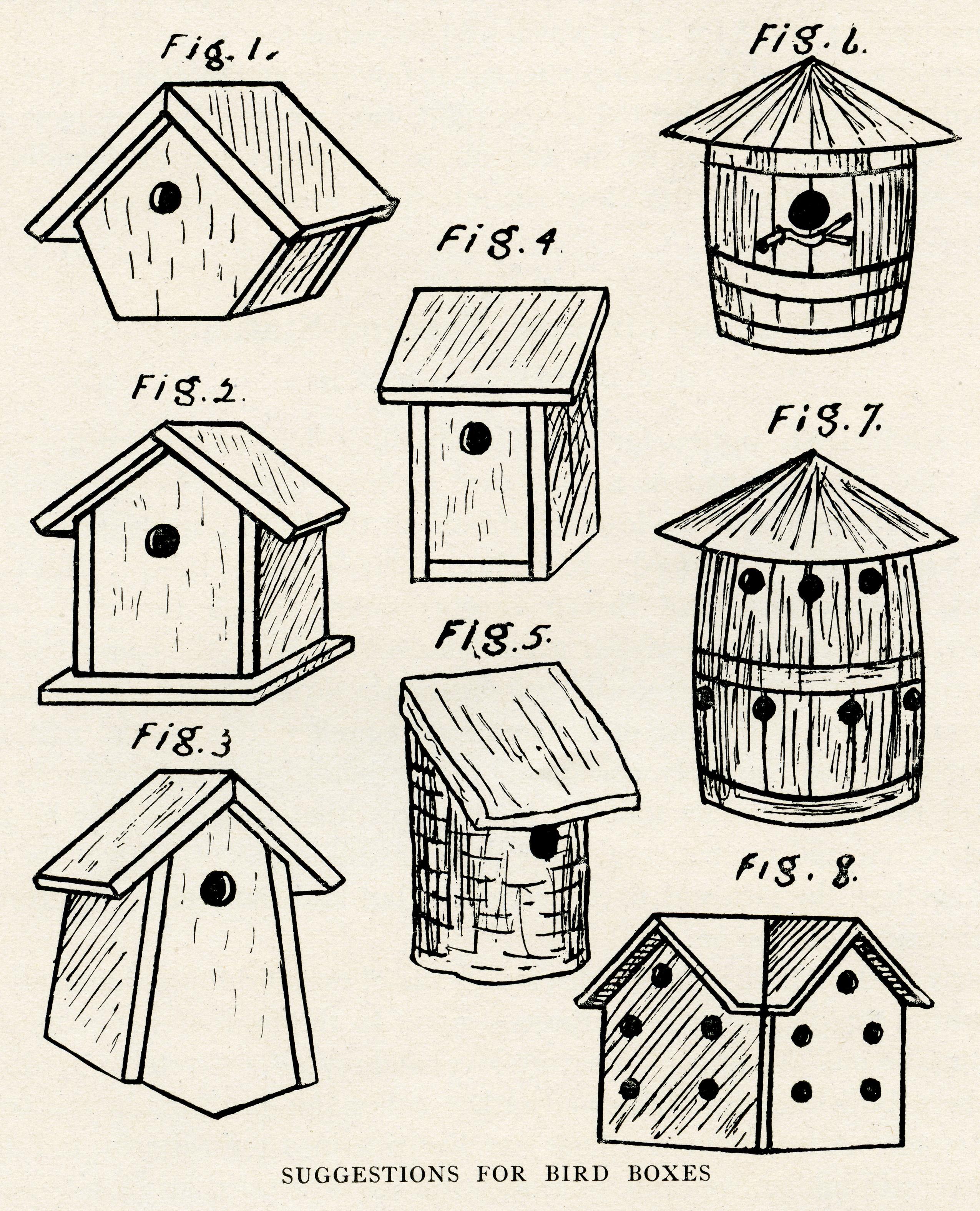 Birdhouse clipart vintage. Birdhouses free clip art