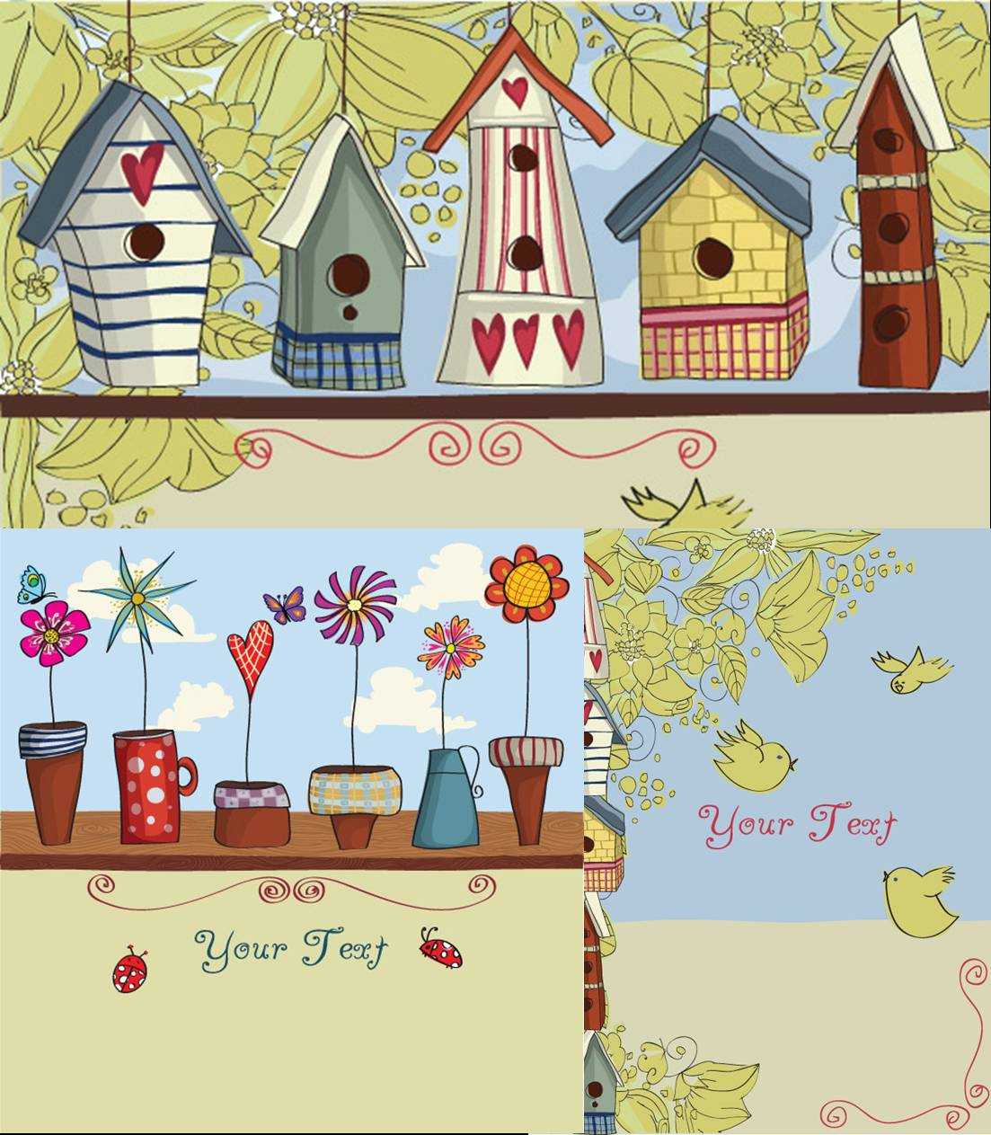 Free border cliparts download. Birdhouse clipart whimsical