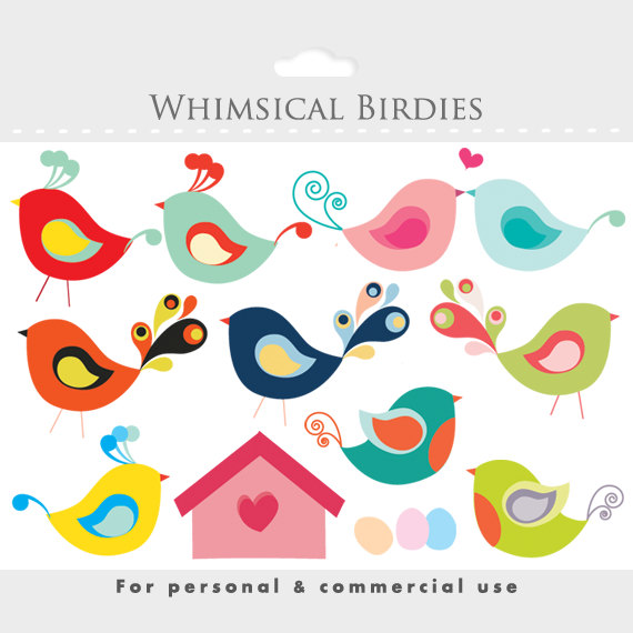 Bird cute birdies eggs. Birdhouse clipart whimsical