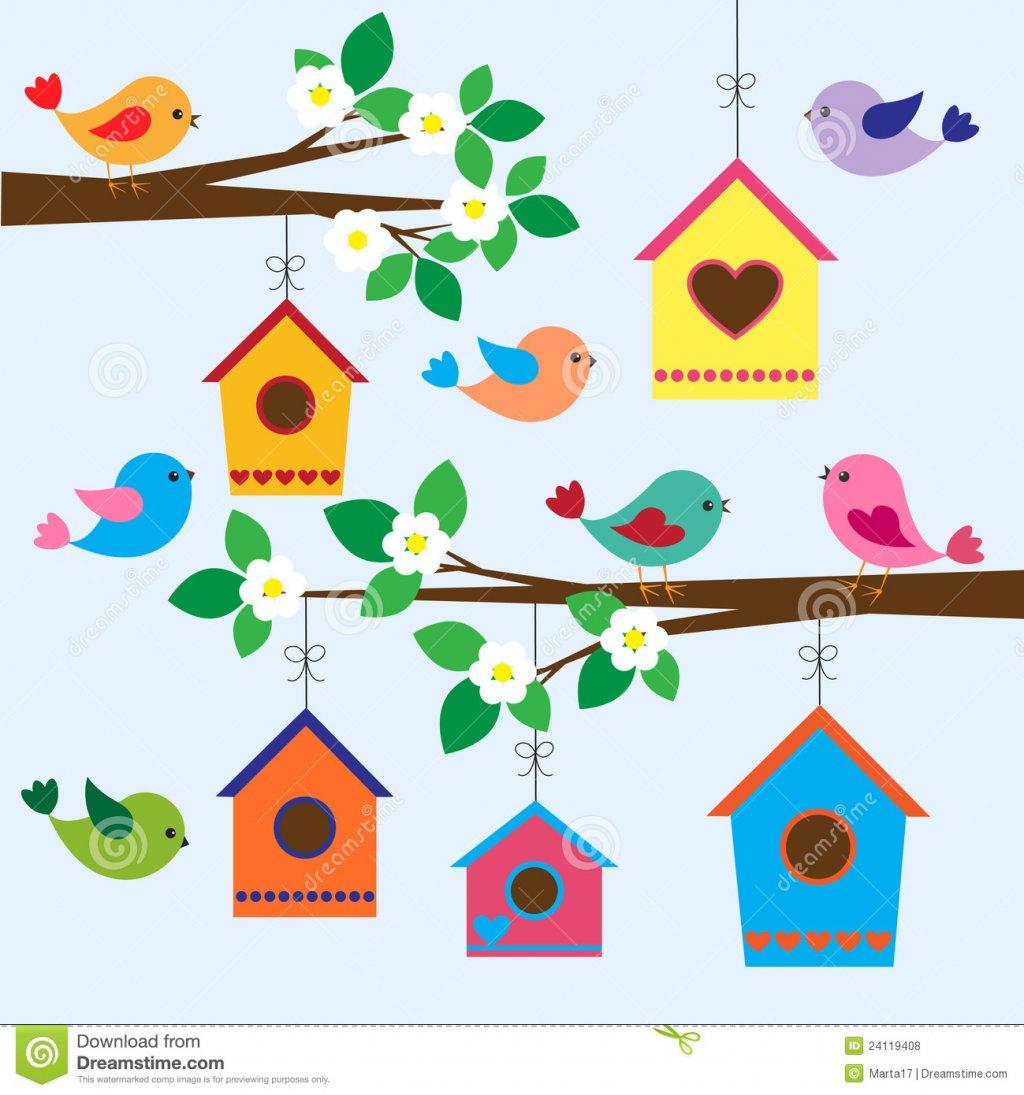 Bird house pencil and. Birdhouse clipart whimsical