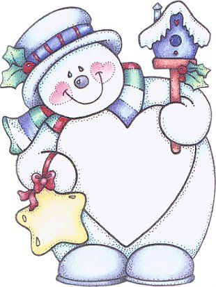 Birdhouse clipart winter. Snowman with star and