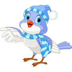 Birdhouse clipart winter. Cute love birds cartoon