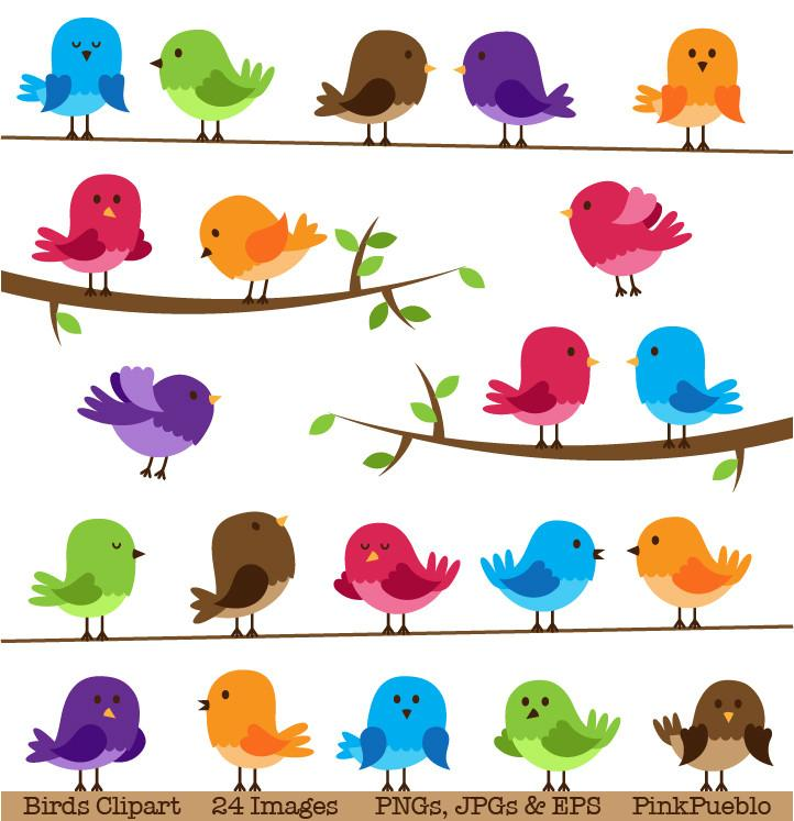 Birds clipart. Cute and vectors pinkpueblo