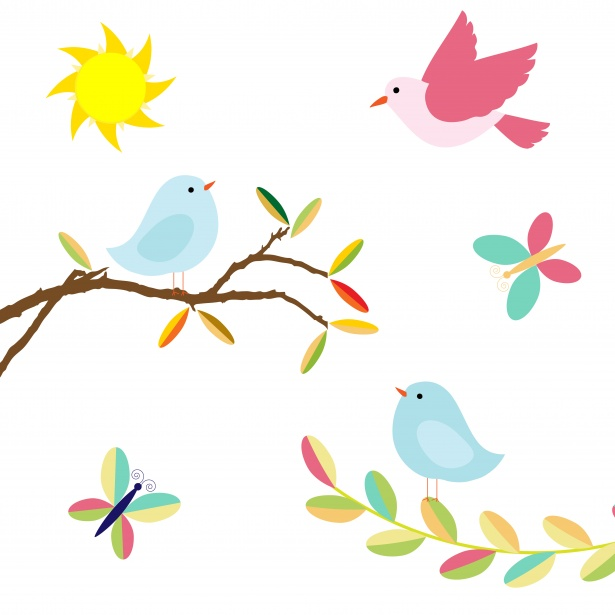 Illustration free stock photo. Birds clipart