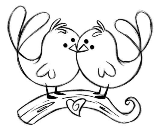birds clipart black and white