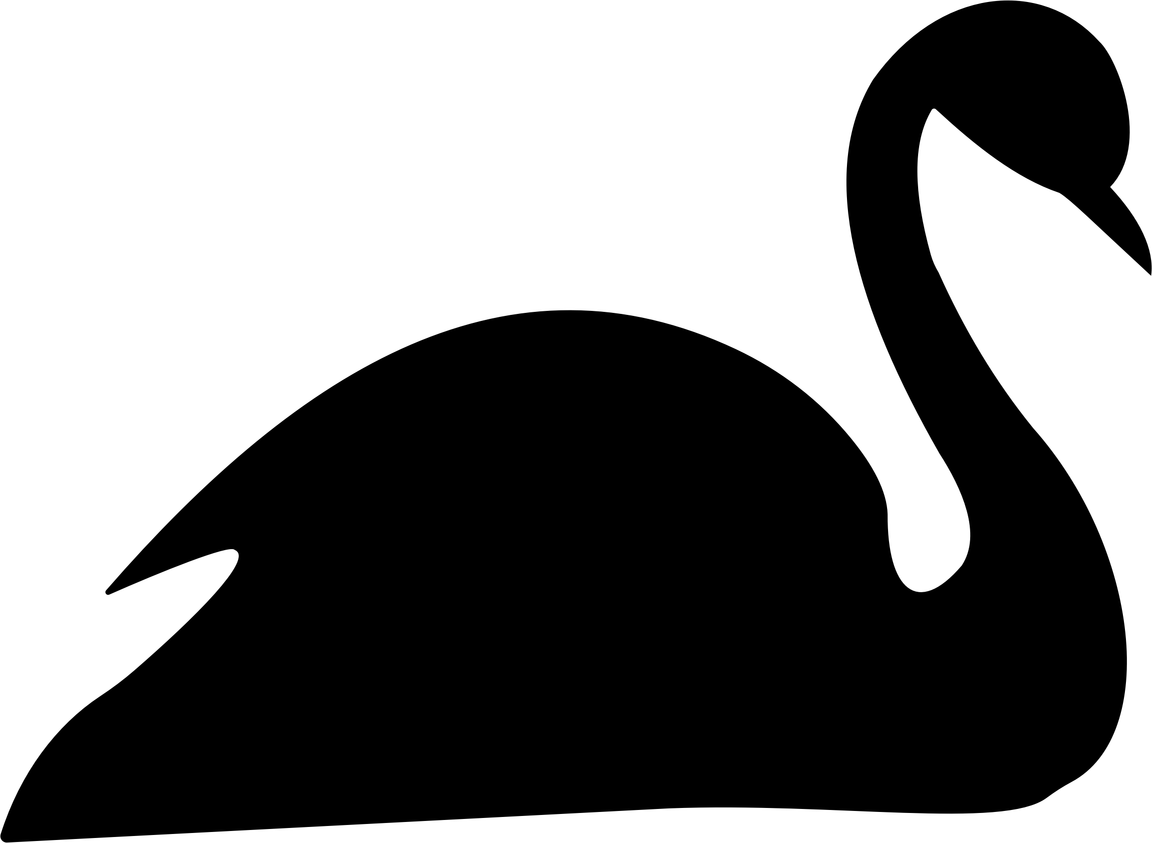 Black swan silhouette. Hunter clipart goose hunting