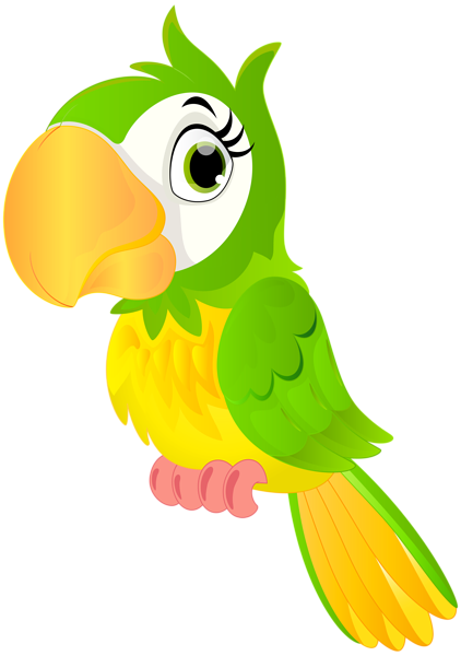 Chameleon clipart rainforest bird. Parrot cartoon png clip