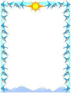 Bird clipart borders. Blue border design clip