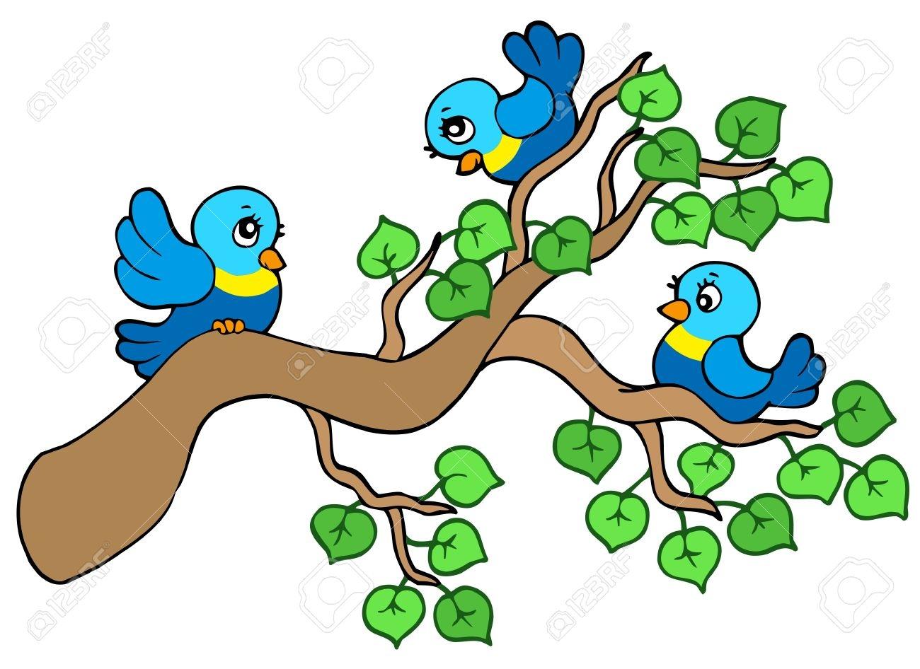New design digital collection. Birds clipart branch