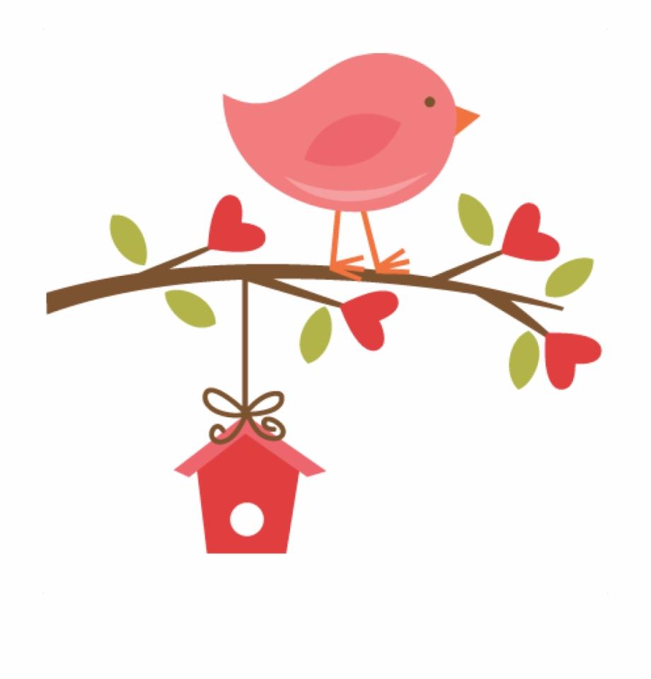 Cute bird on a. Birds clipart branch