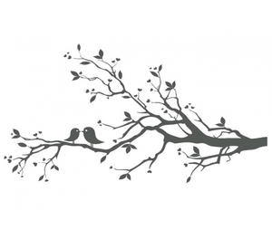 Bird clipart tree. With birds free love