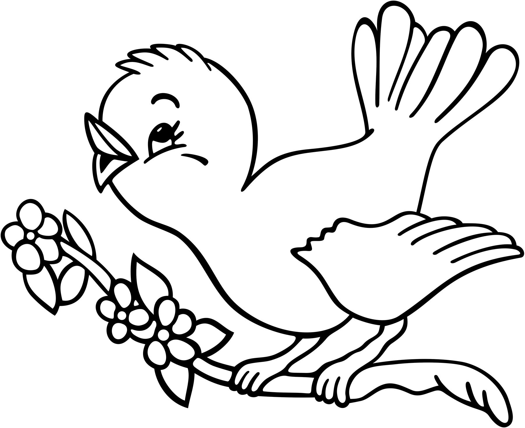 Birds clipart coloring. Https www google com
