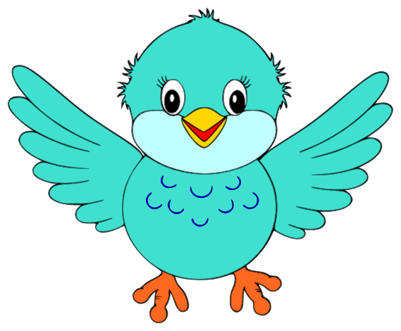 Cute small bird . Clipart birds