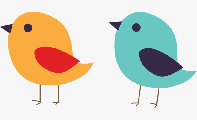 Two png animal bird. Birds clipart cute