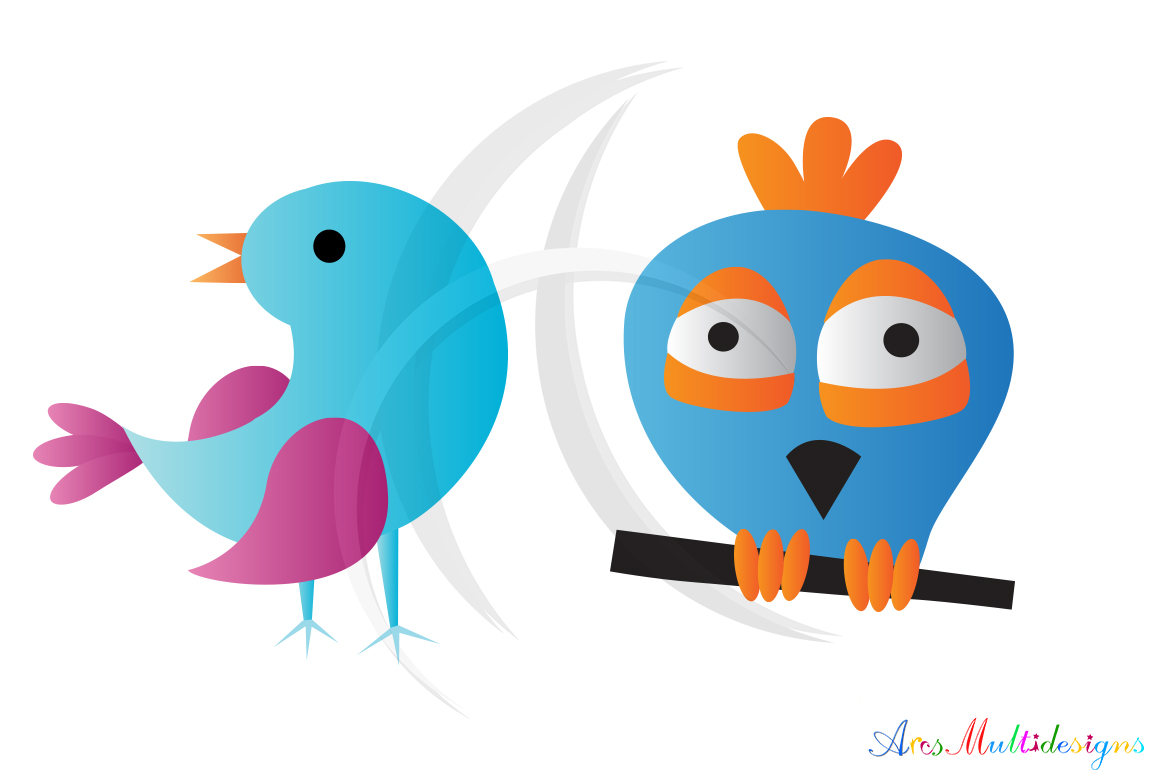 Graphics and illustrations cute. Birds clipart doodle