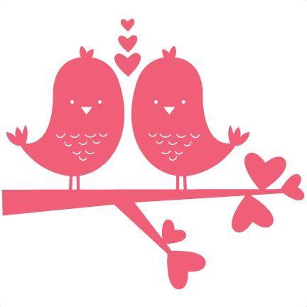 Birds clipart doodle. In love scrapbook titles