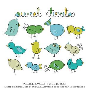 best doodles images. Birds clipart doodle