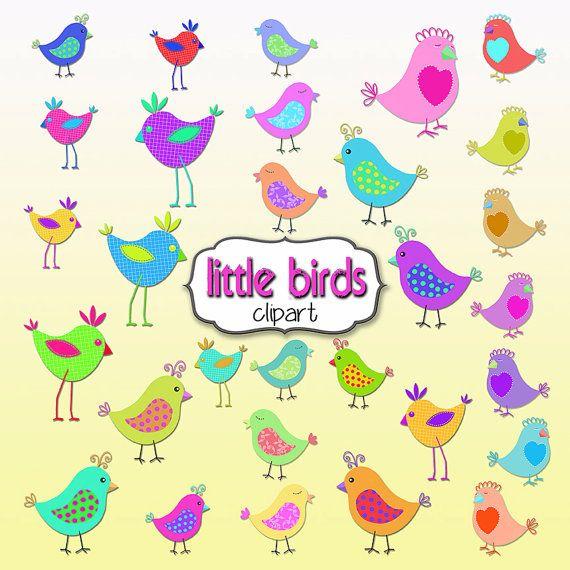 Birds clipart doodle. Bird rainbow bright colors