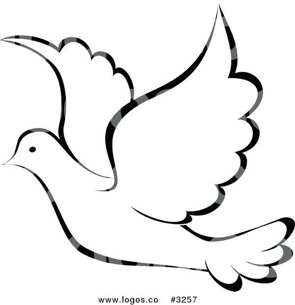 Birds clipart dove. Outline iltorrione org bird