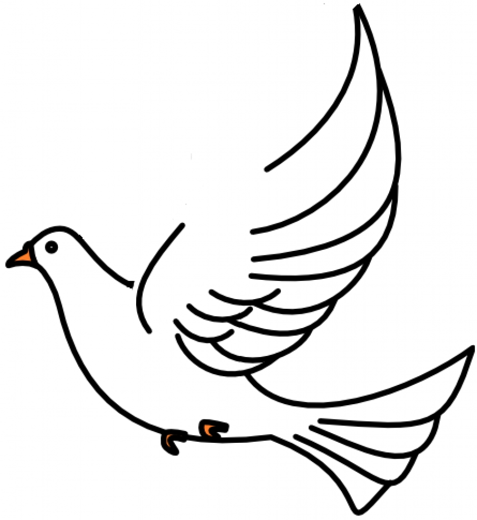 Birds clipart dove. Line drawing at getdrawings