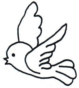 Birds clipart easy. Simple drawing of at