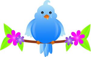 Birds clipart flower. Free bird image cartoon