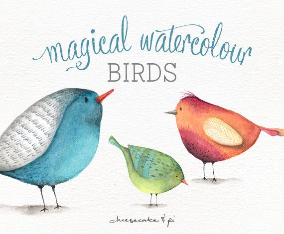 Watercolor png whimsical clip. Birds clipart magical