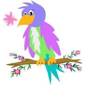 Rare tropical bird free. Birds clipart magical