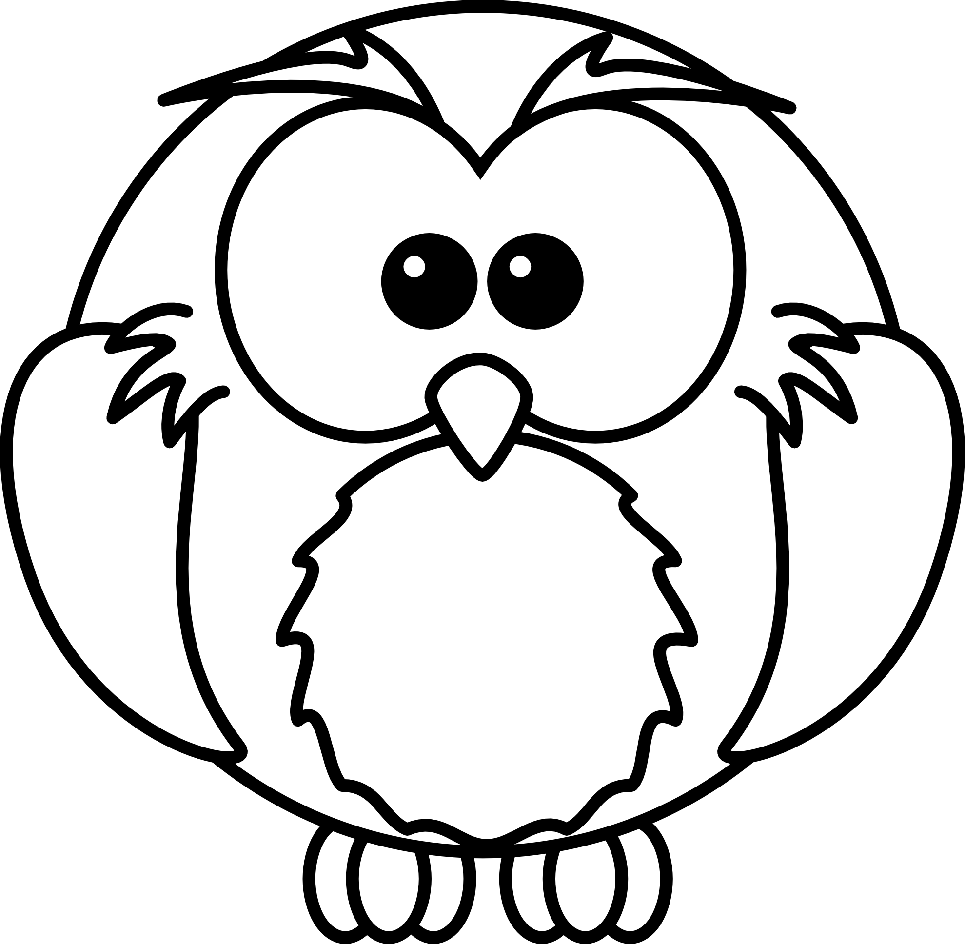 Black and white bird. Watermelon clipart line drawing