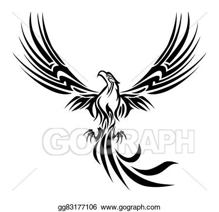 Birds clipart phoenix. Drawing tattoo gg gograph
