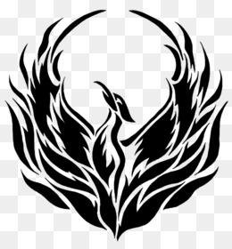 Birds clipart phoenix. Logo clip art black