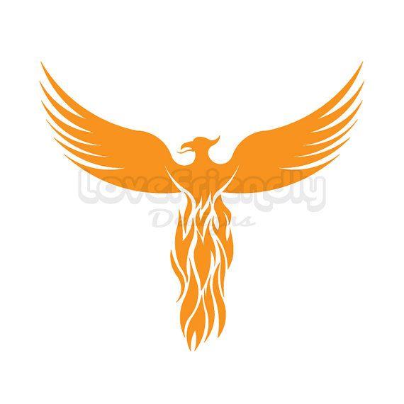 Gold instant download for. Bird clipart phoenix