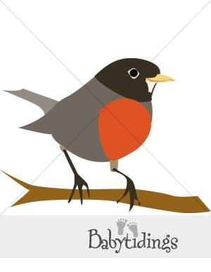 Graphics . Birds clipart red robin