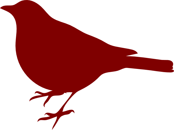 Bird silhouette at getdrawings. Birds clipart red robin