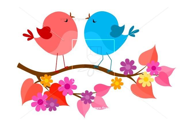 Free vectors illustrations graphics. Birds clipart spring