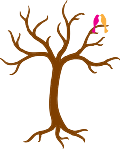 Bare with love clip. Birds clipart tree