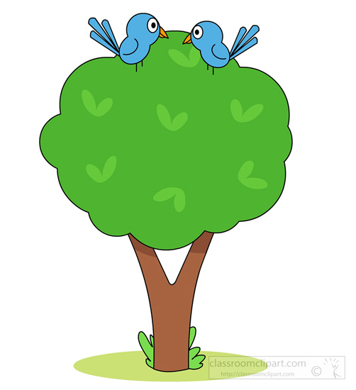 Starter template for bootstrap. Birds clipart tree
