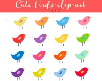 Birds clipart vector.  png eps cute