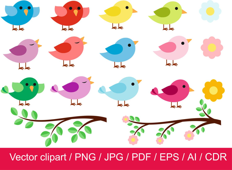 off little digital. Birds clipart vector