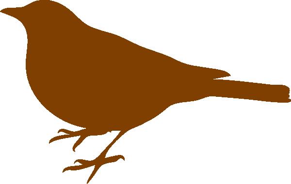 Brown bird clip art. Birds clipart vector